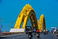 Dragon Bridge on the Han River, Danang, Vietnam.