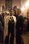 Ashley Shaw-Scott;, Okwui Enwezor and Vinyl Facorty hosted party at Ca'Sagredo, Campo Santa Sofia Venice Biennale, Venice. 5 May 2015