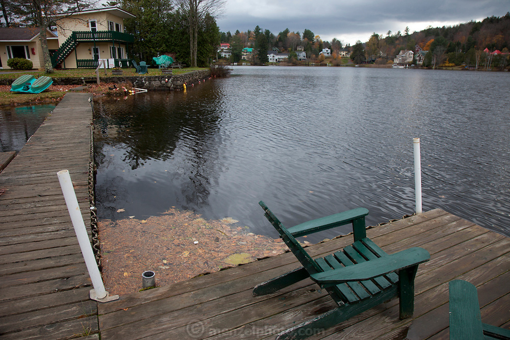 Saranac Lake in the Adirondack Mountains, NY state.