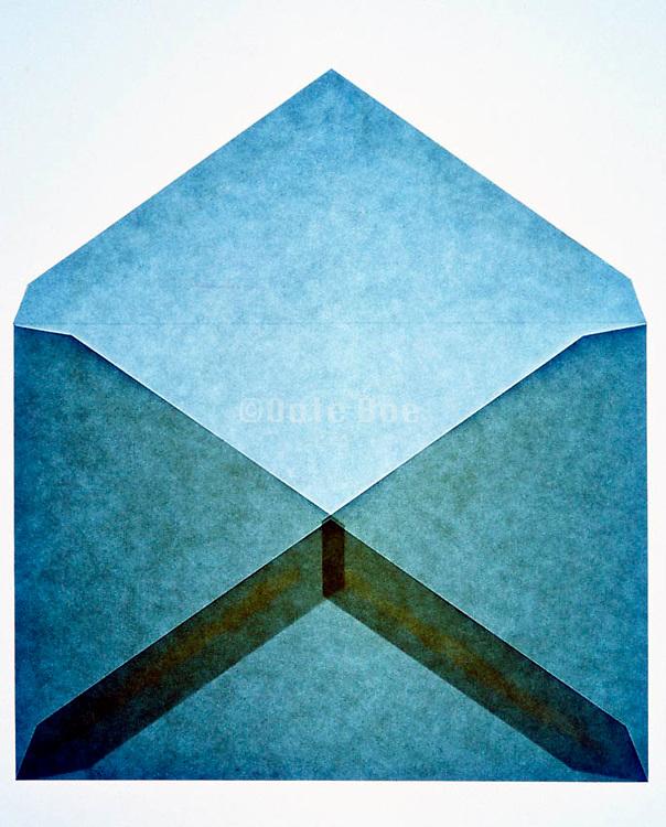 still life of brown letter envelope