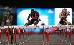 03.09.2013, Mladost Stadion, Zagreb, CRO, IAAF World Challenge, Boris Hanzekovic memorial 2013, im Bild 100 m Hurdles, Dawn HARPER NELSON, Sally PEARSON // during Boris Hanzekovic memorial 2013 of IAAF world challenge at Mladost Stadium in Zagreb, Croatia on 2013/09/03. EXPA Pictures © 2013, PhotoCredit: EXPA/ Pixsell/ Igor Kralj<br /> <br /> ***** ATTENTION - for AUT, SLO, SUI, ITA, FRA only *****