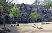The area called the Grotesquery imitating the walls of a limestone cave in Wallenstein Palace Prague, Czech Republic. The palace was constructed in 1624 and is in the Little Quarter of Prague.