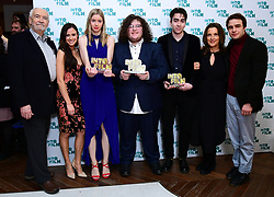 Michael Wilson, Margaret Broccoli, Camilla Thurlow and Nico Mirallegro present Oisin Thomas, Ruda Santos and Emilija Morrison with the Ones To Watch award during the fifth annual Into Film Awards, held at the Odeon Luxe in Leicester Square, London.