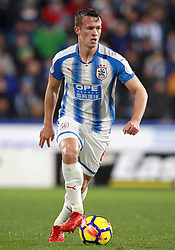 """Huddersfield town's Jonathan Hogg during the Premier League match at the John Smith's Stadium, Huddersfield. PRESS ASSOCIATION Photo. Picture date: Tuesday December 12, 2017. See PA story SOCCER Huddersfield. Photo credit should read: Mike Egerton/PA Wire. RESTRICTIONS: EDITORIAL USE ONLY No use with unauthorised audio, video, data, fixture lists, club/league logos or """"live"""" services. Online in-match use limited to 75 images, no video emulation. No use in betting, games or single club/league/player publications."""