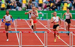 Femke Bol of Netherlands in action on the 400 meter hurdle during FBK Games 2021 on 06 june 2021 in Hengelo.