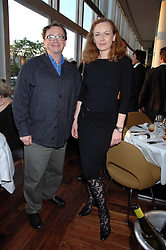 SEBASTIAN CONRAN and GERTRUDE THOME at a dinner hosted by Vogue in honour of Antony Gormley held at the new Skylon restaurant at the refurbished Royal Festival Hall, South Bank, London on 22nd May 2007.<br />