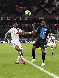 KIMPEMBE Presnel from PSG and David OKEREKE from BRUGES In action during the UEFA Champions League Group A football match Paris Saint-Germain (PSG) v Club Brugge at the Parc des Princes stadium in Paris, France, on November 6, 2019. Photo by Loic BaratouxABACAPRESS.COM