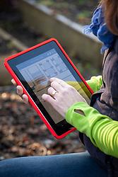 Planning a veg garden using an tablet