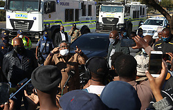 South Africa - Pretoria - 22 June 2020 - Minister of Transport, Fikile Mbalula, meeting with taxi operators on Commissioner street in Shoshanguve as the taxi strike continues.<br /> Picture: Jacques Naude/African News Agency(ANA)