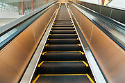 a very long escalator