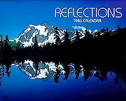 Photo of Mt. Shuksan, North Cascades national Park, WA for the cover of the Reflections Calendar by Timespan Calendars