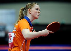 09-05-2011 TAFELTENNIS: WORLD TABLE TENNIS CHAMPIONSHIPS: ROTTERDAM<br /> Britt Eerland NED<br /> ©2011-FotoHoogendoorn.nl