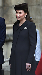 The Duchess of Cambridge leaves following the Easter Mattins Service at St George's Chapel, Windsor Castle, Windsor.