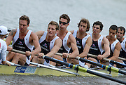 Amsterdam, HOLLAND, GBR M8+, right, Tom STALLARD, Tom LUCY, Hugo LEE, Josh WEST, Rick EGINGTON, Robin BOURNE-TAYLOR, Alistair HEATHCOTE and Acer NETHERCOTT, move away from the start of the heat of the women's eights, at the 2007 FISA World Cup Rd 2 at the Bosbaan Regatta Rowing Course. [Date] [Mandatory Credit: Peter Spurrier/Intersport-images]..... , Rowing Course: Bosbaan Rowing Course, Amsterdam, NETHERLANDS