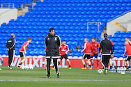 Chris Coleman, the Wales football team manager © looks on during the Wales football team training at the Cardiff City Stadium in Cardiff, South Wales on Wed 23rd March 2016. The team are preparing for their forthcoming friendly against Northern Ireland.<br /> pic by  Andrew Orchard, Andrew Orchard sports photography.
