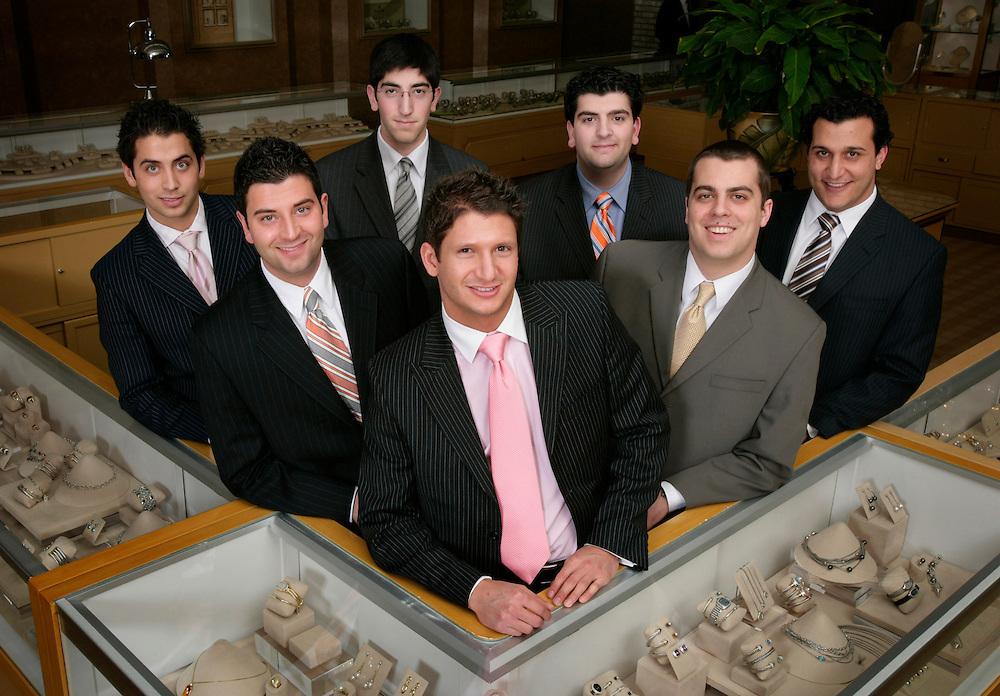 From left: Christopher Ahee, Eddie Ahee, Andre Ahee, Anthony Ahee, Niko Ahee, Lowell Ahee, Jr., and Jonathan Thomas.