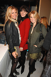 Left to right, GEORGIE DOWNIE, LADY LAURA CATHCART and COUNTESS MARIE-SOPHIE VON MONTGELAS at a party to celebrate the opening of the new Beatrix Ong store in Burlington Arcade, Piccadilly, London on 14th November 2007.<br />