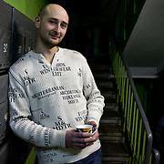 Portrait of Chechnya war veteran writer Arkady Babchenko at home in Moscow, Russia.