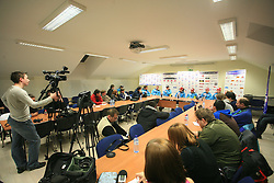 Press conference of Women Slovenian alpine team before the World Championship in Val d'Isere, France, on January 26, 2009, in Ljubljana, Slovenia. (Photo by Vid Ponikvar / Sportida).