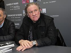 Gerard Depardieu attending the Paris Book Fair 2018 (Salon du Livre 2018) at the Parc des Expositions in Paris, France, on March 18, 2018. Photo by Somer/ABACAPRESS.COM