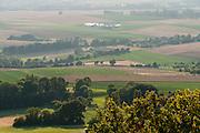 Blick von der Feste Otzberg, Odenwald, Naturpark Bergstraße-Odenwald, Hessen, Deutschland | view of Otzberg castle, Odenwald, Hesse, Germany