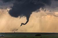 A tornado ropes out near Dodge City, Kansas, May 25, 2016.