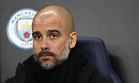 Football - 2017 / 2018 UEFA Champions League - Round of Sixteen, Second Leg: Manchester City (4) vs. FC Basel (0)<br /> <br /> Manchester City Manager Josep Guardiola at The Etihad.<br /> <br /> COLORSPORT