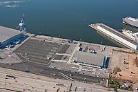 Aerial Image of empty Maryland Cruise passenger Terminal