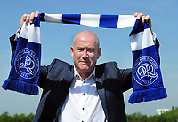 Football - 2018 / 2019 season - new Queens Park Rangers manager Mark Warburton Press Conference<br /> <br /> New QPR Manager Mark Warburton with the club scarf at Harlington Sports Ground.<br /> <br /> COLORSPORT/ANDREW COWIE