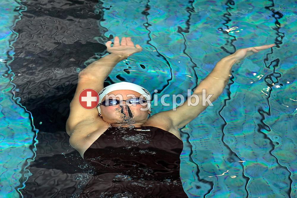 LIMM's Martina VAN BERKEL of Switzerland on her way to win the women's 100m backstroke final at the Swiss Swimming Championships in Zurich (Zuerich) Oerlikon, Switzerland, Thursday, March 19, 2009. (Photo by Patrick B. Kraemer / MAGICPBK)