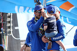 October 28, 2017 - Lisbon, Portugal - Vestas 11th Hour racing team's Charlie Enright wins Leg 1 from Alicante to Lisbon during the Volvo Ocean Race 2017-2018, in Lisbon, Portugal on October 28, 2017. (Credit Image: © Pedro Fiuza/NurPhoto via ZUMA Press)