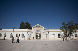 November 1, 2018 - Malaga, MALAGA, Spain - The entrance of San Miguel cemetery is seen open during the All Saint Day  in Malaga. (Credit Image: © Jesus Merida/SOPA Images via ZUMA Wire)