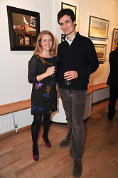 ALANNAH WILKINS and RICHARD BLAIR-OLIPHANT at a private view of artist Georgina Barclay's work entitled 'Loves & Curiosities' held at the Air Gallery, Dover Street, London on 17th November 2009