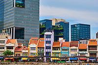 Singapour, le quartier colonial et Boat Quay // Singapore, Colonial District and Boat Quay