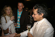 Basia Briggs, Vitaly Martunyk  and crown prince shwebomin of burma, DENIS SIMACHEV SHOWCASES AUTUMN/WINTER 06 MENSWEAR & WOMENSWEAR COLLECTIONS<br />