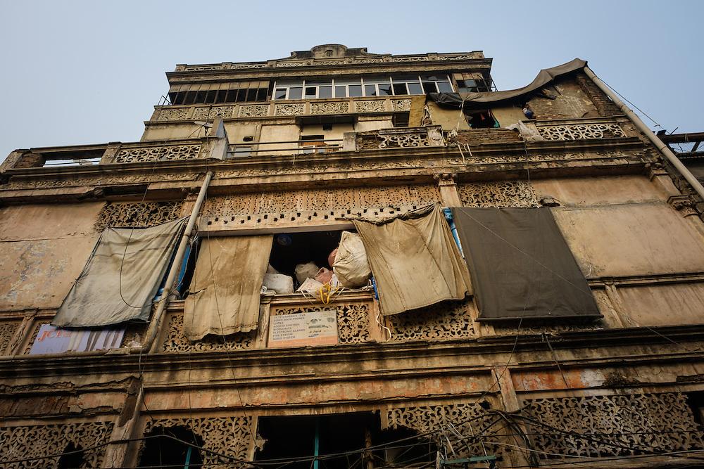 NEW DELHI, INDIA - CIRCA OCTOBER 2016: Typical facade in Chandni Chowck Delhi.