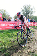 Belgium, November 1 2017:  Pauline Delhaye (Fra) Quick MTB Racing Team was 17th in the 2017 edition of the Koppenbergcross elite women's race.  Copyright 2017 Peter Horrell.