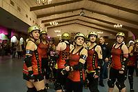 Atlanta Rollegirls prepare for a bout.
