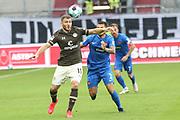 Fussball: 2. Bundesliga, FC St. Pauli - 1. FC Heidenheim, Hamburg, 27.09.2020<br /> Maximilian Dittgen (Pauli, l.) - Marnon Busch (Heidenheim)<br /> © Torsten Helmke