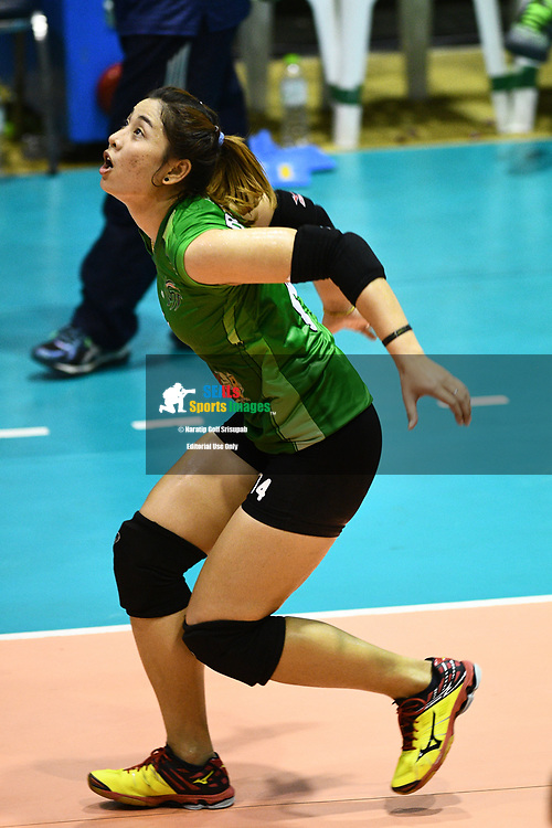 BANGKOK, THAILAND - MARCH 19: Sumalai Prasopsook of King-Bangkok #14 in action during the 2016–17 Women's Volleyball Thailand League, Chantarubeksa Air Force Stadium, Bangkok, Thailand on March 19, 2017.<br /> .<br /> .<br /> .<br /> (Photo by: Naratip Golf Srisupab/SEALs Sports Images)<br /> .<br /> Any image use must include a mandatory credit line adjacent to the content which should read: Naratip Golf Srisupab/SEALs Sports Images