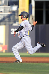 May 28, 2018 - Tampa, FL, U.S. - TAMPA, FL - MAY 23: Hoy Jun Park (1) of the Tarpons hustles over to second base during the Florida State League game between the Charlotte Stone Crabs and the Tampa Tarpons on May 23, 2018, at Steinbrenner Field in Tampa, FL. (Photo by Cliff Welch/Icon Sportswire) (Credit Image: © Cliff Welch/Icon SMI via ZUMA Press)
