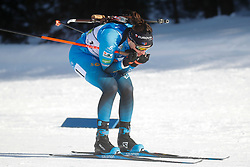 Simon Julia of France competes during the IBU World Championships Biathlon Single Mixed Relay competition on February 18, 2021 in Pokljuka, Slovenia. Photo by Vid Ponikvar / Sportida