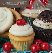 cupcakes and cookies at a local bakery in St. George, Utah. Gift box at bakery.