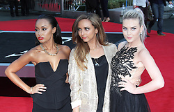 © Licensed to London News Pictures. 20/08/2013, UK. Leigh-Anne Pinnock; Jade Thirlwall; Perrie Edwards ; Little Mix, One Direction: This Is Us - World film premiere, Leicester Square, London UK, 20 August 2013<br />  Photo credit : Richard Goldschmidt/Piqtured/LNP