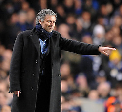 16-03-2010 VOETBAL: CHELSEA FC  - INTER MILAAN : LONDON<br /> Inter Milan manager Jose Mourinho<br /> ©2010- nph /  Chris Brunskill