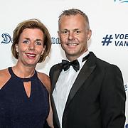 NLD/Hilversum/20190902 - Voetballer van het jaar gala 2019, Bjorn Kuipers en partner