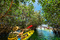 Kayaking, Tres Rios Nature Park, Riviera Maya, Quintana Roo, Mexico