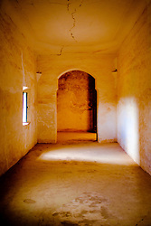 Interior inthe part ruined and abandoned Kasbah at Telouet, southern Morocco<br /> <br /> (c) Andrew Wilson | Edinburgh Elite media