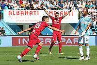 Esultanza GOAL NICOLO BARELLA CAGLIARI Goal celebration<br /> <br /> Ferrara 17-09-2017 Stadio Paolo Mazza Calcio Serie A 2017/2018 Spal - Cagliari Foto Filippo Rubin/Insidefoto