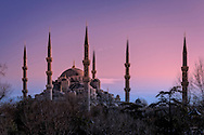 The Sultan Ahmed Mosque (The Blue Mosque) at sunset
